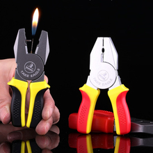 Portable Mini Funny Pliers Shape Cigarette Lighter Kerosene Oil Gas Lighters Smoking Tools Gadgets for Men No Gas Till You Fill(China)