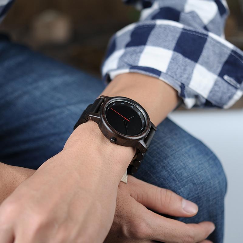 BOBO BIRD Male High Quality wrist Watch Bamboo Wooden Watches Men in gift box custom logo erkek kol saati 1