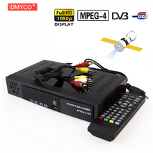 DMYCO Digital Terrestrial Satellite TV Receiver Set Top Box Combo dvb T2 dvb S2 HD 1080P dvb-t2 dvb-s2 Decoder H.264/MPEG-2/4(China)