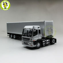 1/50 Isuzu EXR EXZ Truck Trailer Container Diecast Model Silver(China)