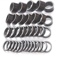 5PCS 28.6MM Spacer Carbon Fiber Mountain Bike Accessories Cycling Fork Head Part Washers 3K Bicycle Stem Head Part Spacers Set(China)