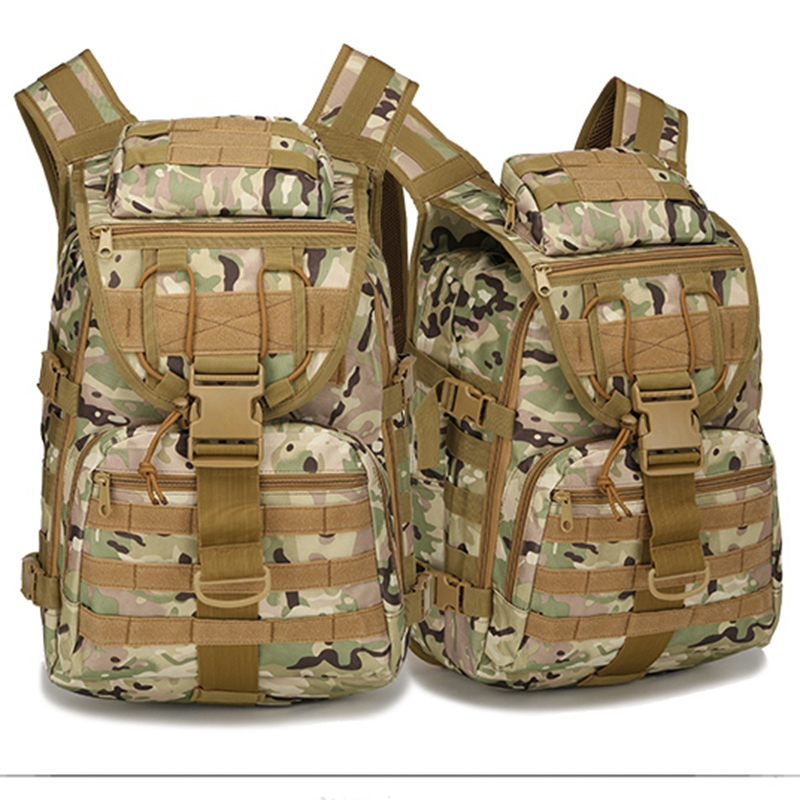 X7 Outdoor Military Army Tactical Backpack 40L Outdoor Rucksack Camping Hiking Trekking Camouflage Bag<br><br>Aliexpress