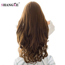 SHANGKE 70cm 5 Clip In Hair Extension Heat Resistant Fake Hairpieces Long Wavy Hairstyles Synthetic Clip In On Hair Extensions(China)