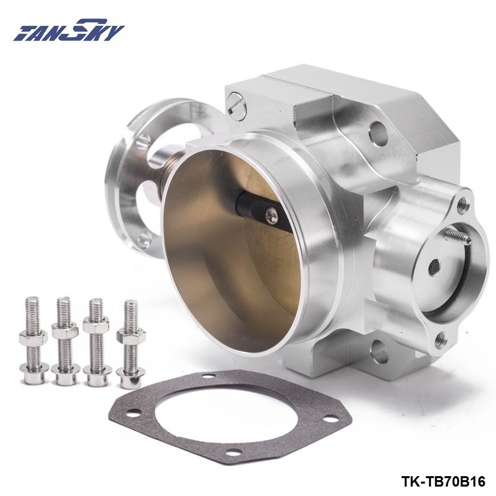 Aluminum Silver 70MM Throttle Body Honda Civic Acura Integra B16 B18 EK EG Intake Manifold TK-TB70B16