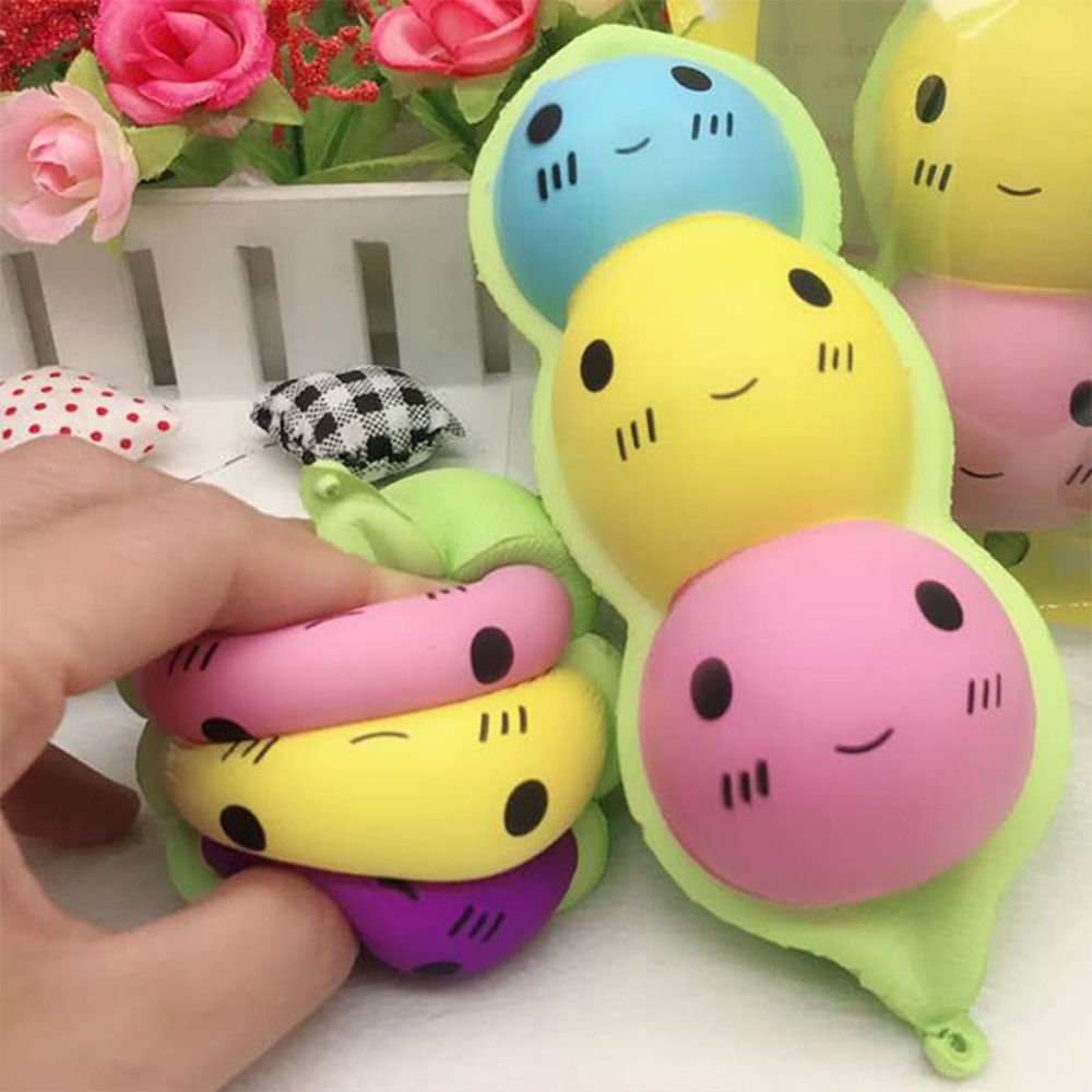 Cute Peas Shaped Slow Rising Squishy Squeeze Healing Toy Anti Stress Toy Stress Relieve Toy Kids Gift New Arrival(China)