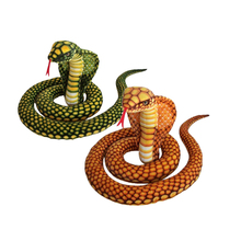 Fancytrader Big Giant Emulational Snake Plush Toy Big Stuffed Animal Snake Pillow Halloween Gift 280cm 110inches(China)