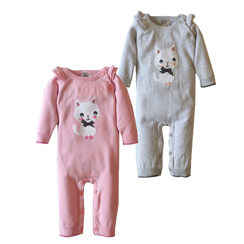 Newborn Clothes Baby Autumn Jumpsuit Fleece Long Sleeve Romper knit Warm Baby Clothes Cute Cat Roupas Bebes Bobo Choses Romper<br><br>Aliexpress