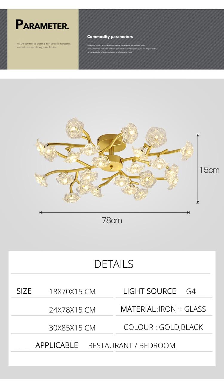 DX Vintage Flower Ceiling Light (2)
