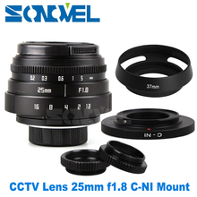 Buy 25mm F1.8 APS-C Television TV Lens CCTV Lens C mount + Lens hood Nikon 1 mirrorless Camera AW1 S2 J4 J3 J2 J1 V3 V2 V1 C-NI for $33.20 in AliExpress store