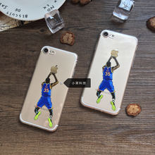 Super Basketball star Kevin Wayne Durant phone case design for iphone 6 6s 5 5s se 7 7plus plus 6plus soft TPU Durantula kd case(China)