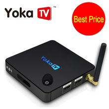Best Price YOKA KB1 Smart TV BOX Amlogic S905X Android 6.0 Tv Box 2.4G/5GHz Daul WiFi Bluetooth 4.0 UHD 4K 2GB 16GB Set Top Box