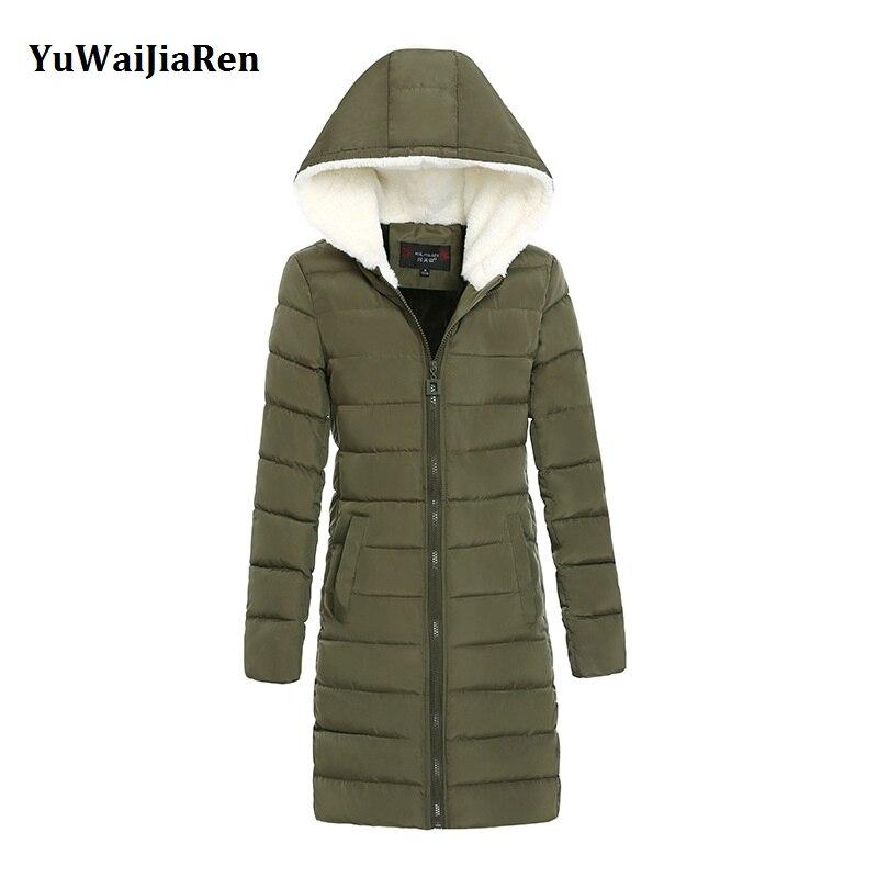 Women Winter Coats &amp; Jackets 2017 Fashion Down Cotton Padded Coat Long Slim Women Parkas Plus Size Thicken Female OuterwearÎäåæäà è àêñåññóàðû<br><br>