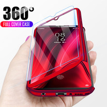 Luxury 360 Full Cover Phone Case For Redmi Note 7 5 6 K20 Pro Redmi 7 6A Shockproof Case For Xiaomi mi 9 8 SE A2 Lite With Glass(China)