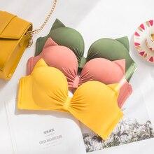 f9ee3db287 Wasteheart Women Fashion Yellow Padded Straps Bras Panties Push Up Bra Set  Sexy Lingerie Set Underwear