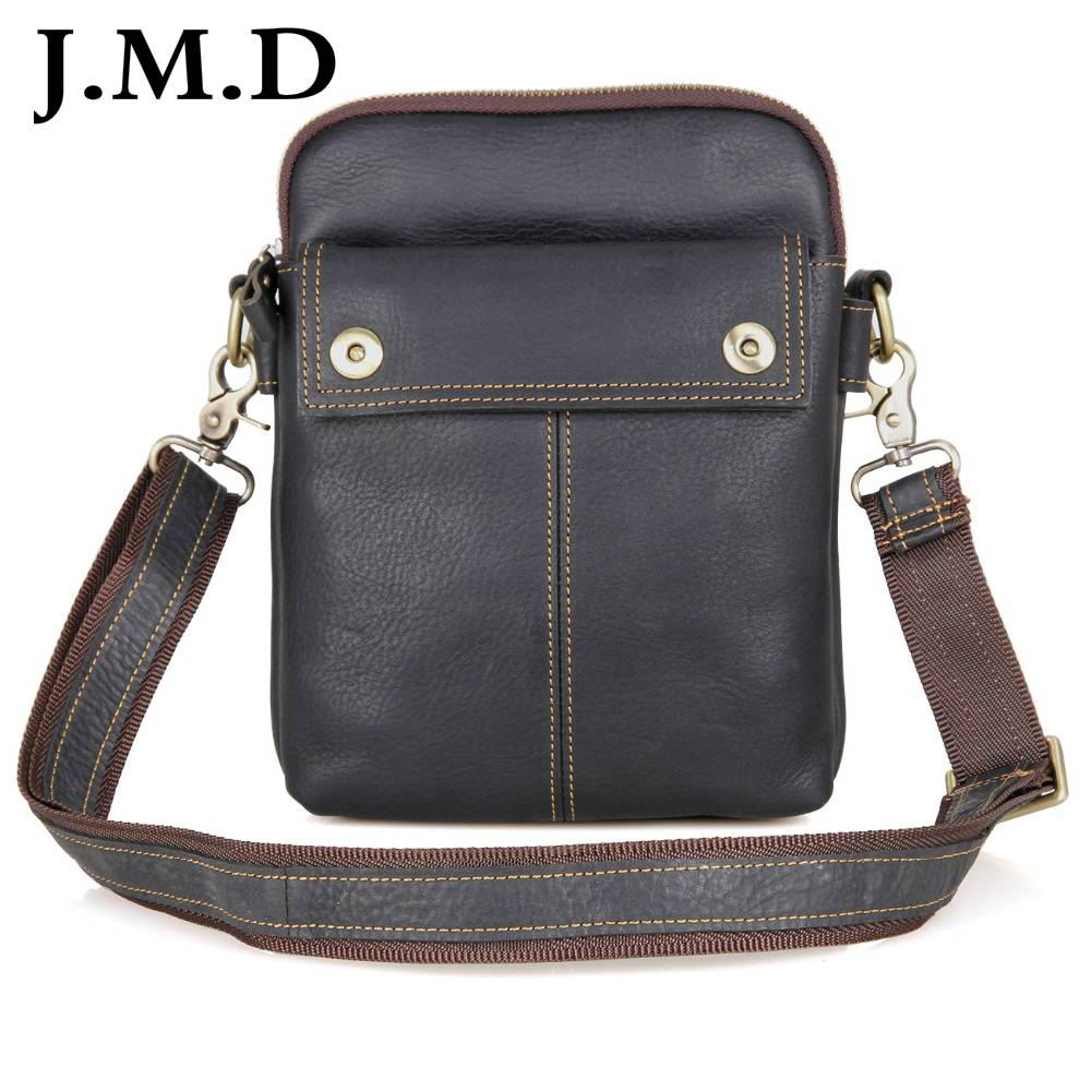 J.M.D Vintage Real Leather Mens Shoulder Messenger Bag Small Sling Bag For Man Purse Handbags 1002A<br>