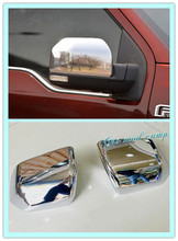 For Ford F150 2015 2016 ABS chrome Rearview mirror cover Side mirror cover molding decoration trim