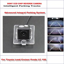Intelligentized Reversing Camera For Toyota Land Cruiser Prado LC 150 LC150 2010~2014 / Rear View Camera Dynamic Guidance Tracks(China)