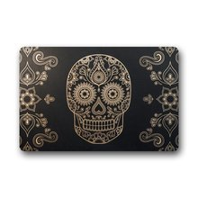 Innovative Personalise Door Mats Vintage Art Sugar Skull Doormat 15.7-Inch by 23.6-Inch - Indoor/Outdoor Doormat(China)