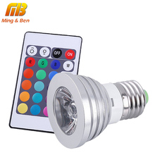 [MingBen] LED Bulb 4W E27 RGB Stage 16 Colorful Change Lamp Spotlight AC85-265V Home Party Wedding with IR Remote 24 Keys(China)