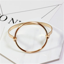 accessories wholesale Minimalism wind circular Ring fashion bangle bracelet Fashion han edition hollow out circle bracelet FF885
