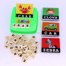 Literacy Fun game Learn English Word Puzzle Toy Alphabet Letters Card Game Learning toys Educational Toys For children,1+ Player