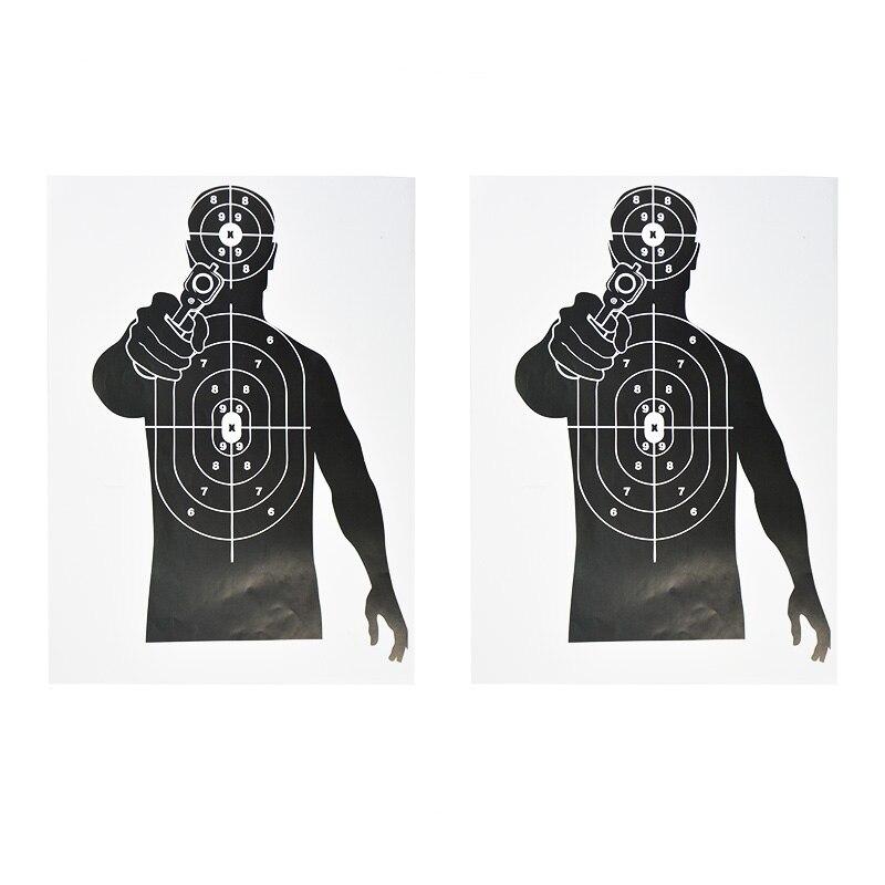 "12x17/"" Shooting Targets Paper Gun Pistol Darts Game Archery Hunting Bow Practice"