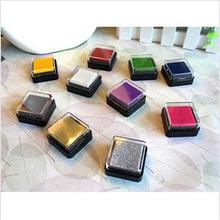 12 Colors Multicolour Inkpad Stamp Homemade DIY Gradient Color ink Pad Decoration Fingerprint Scrapbooking Accessories