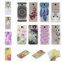Y6 II Compact Case Cover Silicon Fashion Girl Cat Rose Rubber Phone Bag Coque Capinha For Huawei Y6 ll Compact 2 Etui Skin Gel