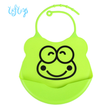 New Design Baby Bibs Waterproof Silicone Feeding Baby SalivaTowel Wholesale Newborn Cartoon Waterproof Aprons Baby Bibs YYT281