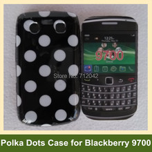 Cool Polka Dots Soft TPU Gel Cover Phone Case for Blackberry Onyx 9700 Free Shipping(China)