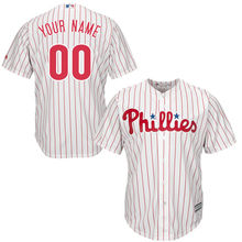 MLB Youth Philadelphia Phillies Baseball White Home Custom Cool Base Jersey(China)