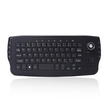 Mini 2.4G Wireless Keyboard with Trackball Sky Squirrel Handheld Touchpad gaming keyboard for mart tv box android smartphone(China)