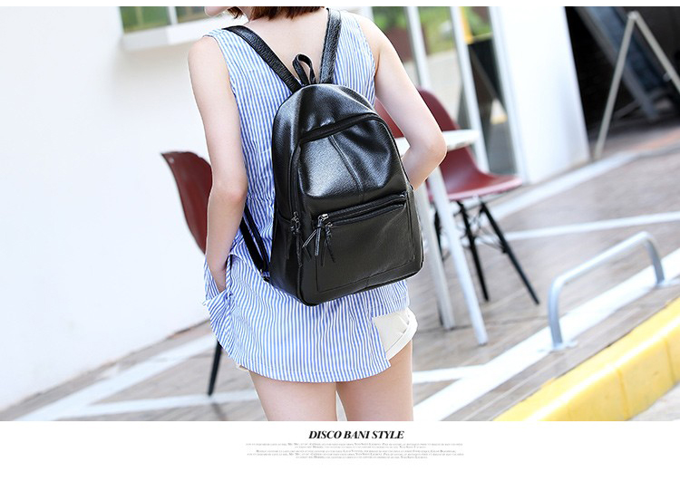 6cefaf7ed20 Bolish New Travel Backpack Korean Women Female Rucksack Leisure Student  School bag Soft PU Leather Women Bag - Bookings Free