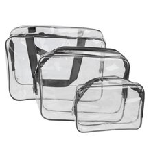 3-in-1 PVC Transparent Waterproof Multifunctional Cosmetic Bags