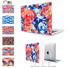 "MTT Print Colorful flowers Case For Apple New 2017 Macbook Pro 13"" 15"" Touch Bar A1706 Cover For Air 11 13 Pro 13 15 Case Retina"