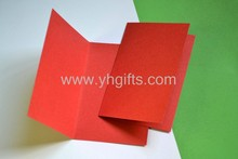 10PCS/LOT.Light yellow/Red/Blue/Green folded blank cards,Handmade greeting cards.DIY scrapbooking kit.4 color choice.X'mas card