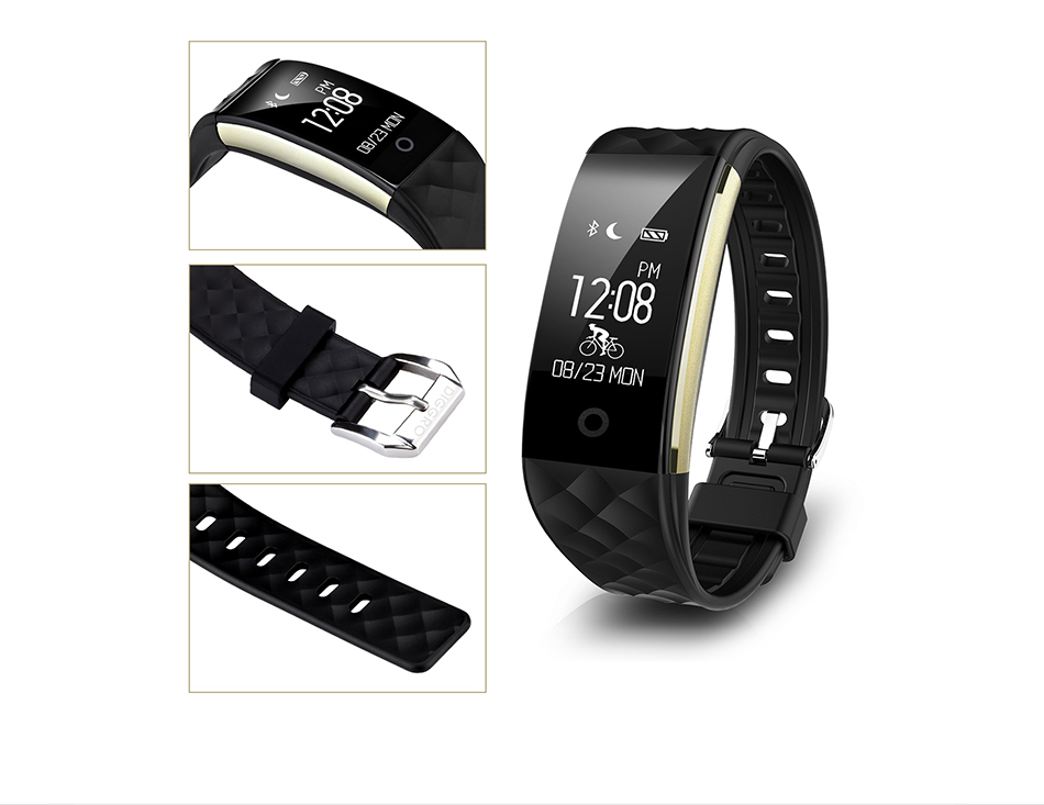 Diggro S2 Smart Bracelet Band Bluetooth 4.0 Fitness Tracker Heart Rate Monitor Smart Bracelet Wristband For IOS Android 16