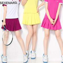 SEXEMARA tennis shorts women dress skorts girl badminton ladies tennis volleyball sport shorts thin 1pc