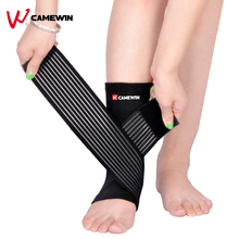1 Pcs Pressurizable Bandage Ankle Support Protect Foot Basketball Football Badminton Anti Sprain Ankle Guard Warm Brace Nursing(China)
