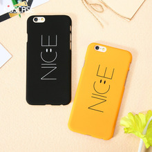 KISSCASE Smile Face Nice Case For iPhone 6 S 7 Plus Hard Cover Yellow Cartoon Lovely Smile Couple Coque For iPhone 6s 7 7 Plus