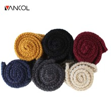 Vancol 2016 Autumn Winter  Women Lady Couple Brand Design Solid Color Knitted 6 Color Woolen Thin  Korean Short Men Scarf