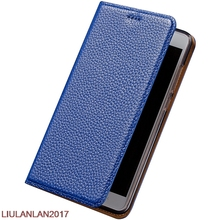 Men Women Case For Huawei Nova Lite Brown Black Coffee Blue Genuine Leather Cover Flip Business kickstand Magnetic Protective(China)