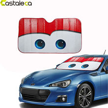 Castaleca 5 Colors Eyes Pixar Heated Windshield Sunshade Car Window Windscreen Cover Sun Shade Auto Sun Visor Car-covers