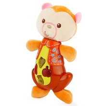 2017 funny Cute Animal Shapes Music Sound Baby Sleeping Somfort Toys Calm Doll B# dropshipping D5(China)