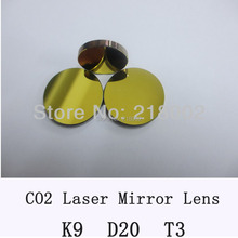co2 laser K9 mirror reflector of 20 mm dia 3 mm thick for laser engrave and cutting machine