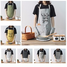 7 Colors Durable Cotton Cooking Baking Aprons Kitchen Apron Restaurant Aprons for Women Home Sleeveless Apron High Quality