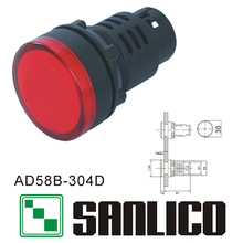 semi-conductive energy saving indicator(LED) AD58B(AD16 AD22 AD11 AD17)-304D(China)