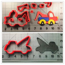 Custom Made 3D Printed Cookie Cutters Traffic Tools Biscuit Tow Truck Kitchen Accessories