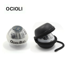 OCIOLI Powerball Auto Start LED Counter Gyroscope Gyro Ball for Fitness Gym Sports Autostart Power Ball  with Wrist Ball Bag