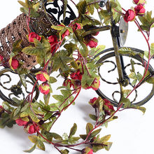 2.2m Artificial Flower Vine Fake Silk Rose Ivy Flower for Wedding Decoration Artificial Vines Hanging Garland Home Decor(China)